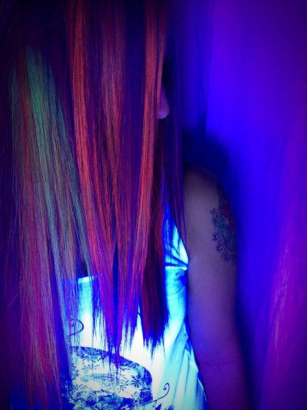 Hair Hairstyle Crazy Hair Neon Color Neon Lights Saturdaynight Revolutionhairandbeauty Soncino Revolution Team