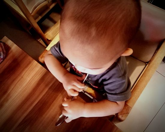 waiting for my mom Kid Cute Kid Holding Spoon Babyboy Baby Waiting EyeEm Selects Indoors  High Angle View One Person People Preparation  Hardwood Floor Adult Real People Human Hand Close-up Day