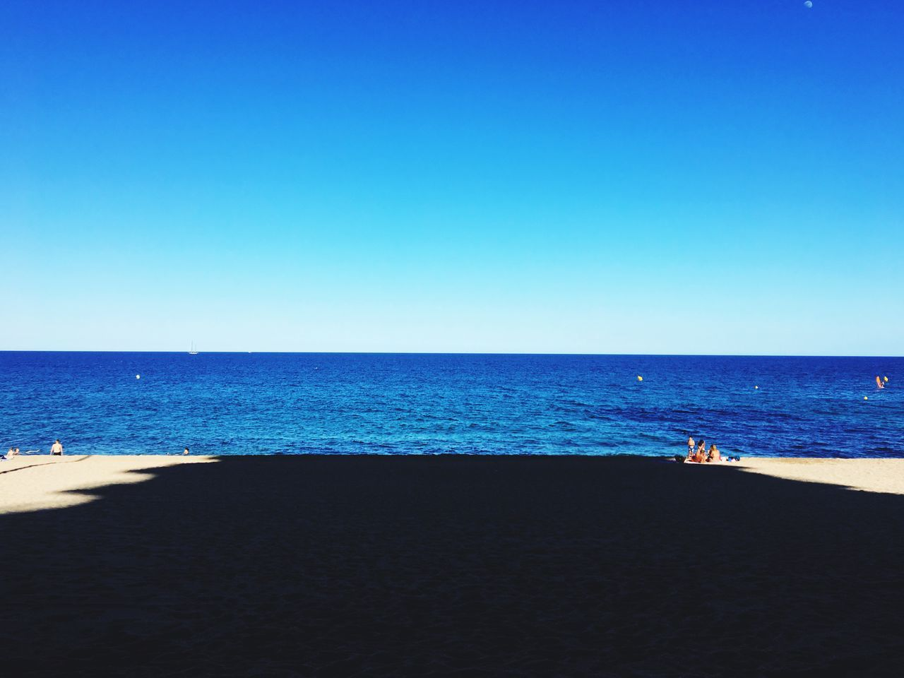 Sea Horizon Over Water Beach Clear Sky Blue Copy Space Water Scenics Sand Tranquil Scene Nature Tranquility Beauty In Nature Day Vacations Outdoors Sky No People