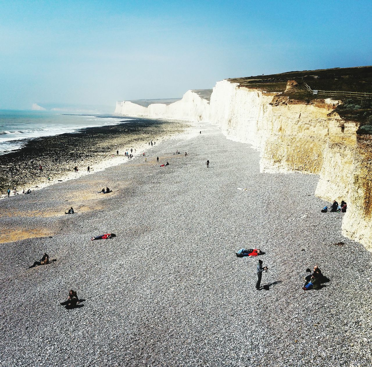 Birling Gap East Sussex Uk Sea Sun Cliffs