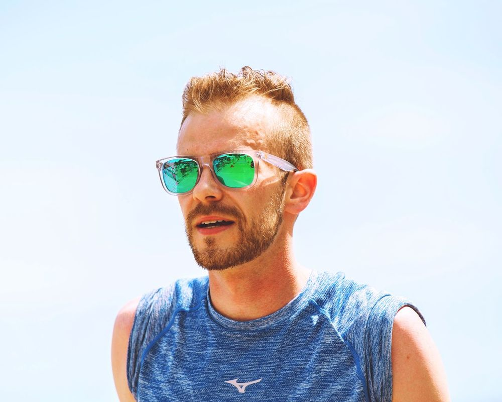 Right before the finish line at a 10k race ! 30 degrees celsius outside... A pretty hot temperature to be running! Sunglasses One Man Only Front View Headshot People Adult Green Color Eyeglasses  Day Portrait Running Runner Marathon Athlete Sun Eyewear EyeEm Best Shots Blond Sweat Exercising Sport Mid Adult One Person Me Myself EyeEm Selects