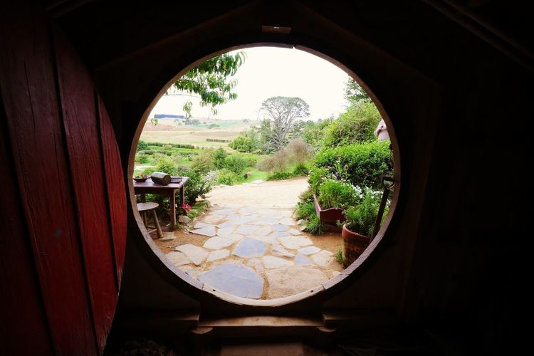 Not all those who wander are lost. Hobbiton The Hobbit Lordoftherings The Shire Middle Earth Tree Window Circle Door Sky Day Nature New Zealand Matamata Travel Destinations Showcase February 2017 The Great Outdoors - 2017 EyeEm Awards