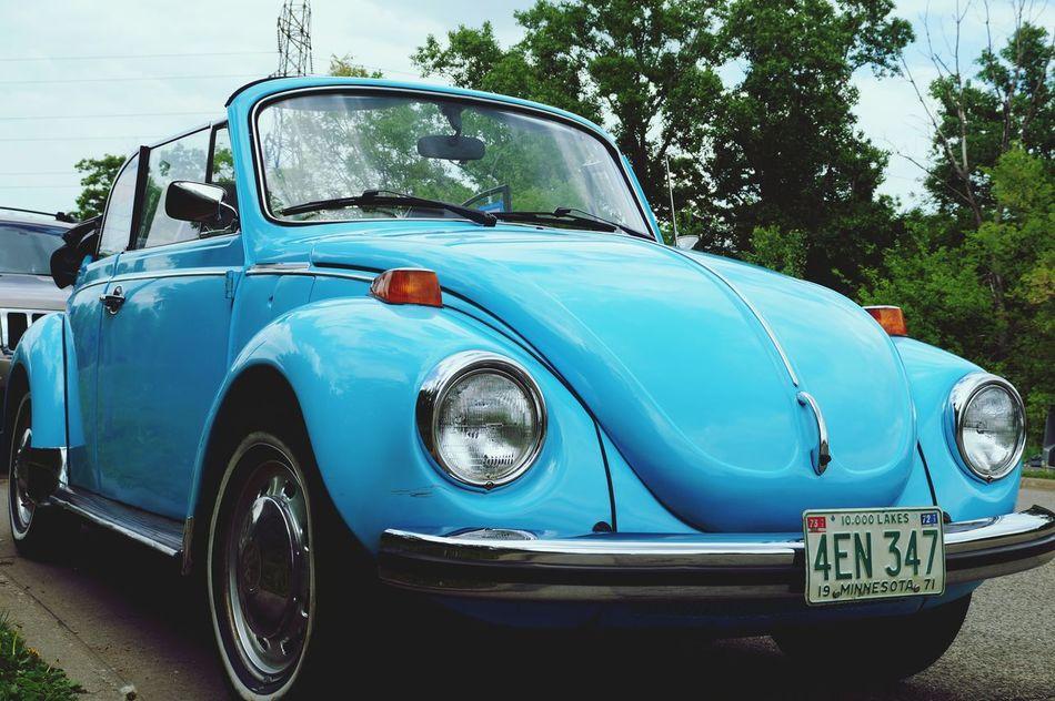 This was a nice car. Minnesota Minneapolis Cars Photography Nature Automobiles Slug Bug Volkswagen Volkswagen Beetle M.L Prod. Outdoors