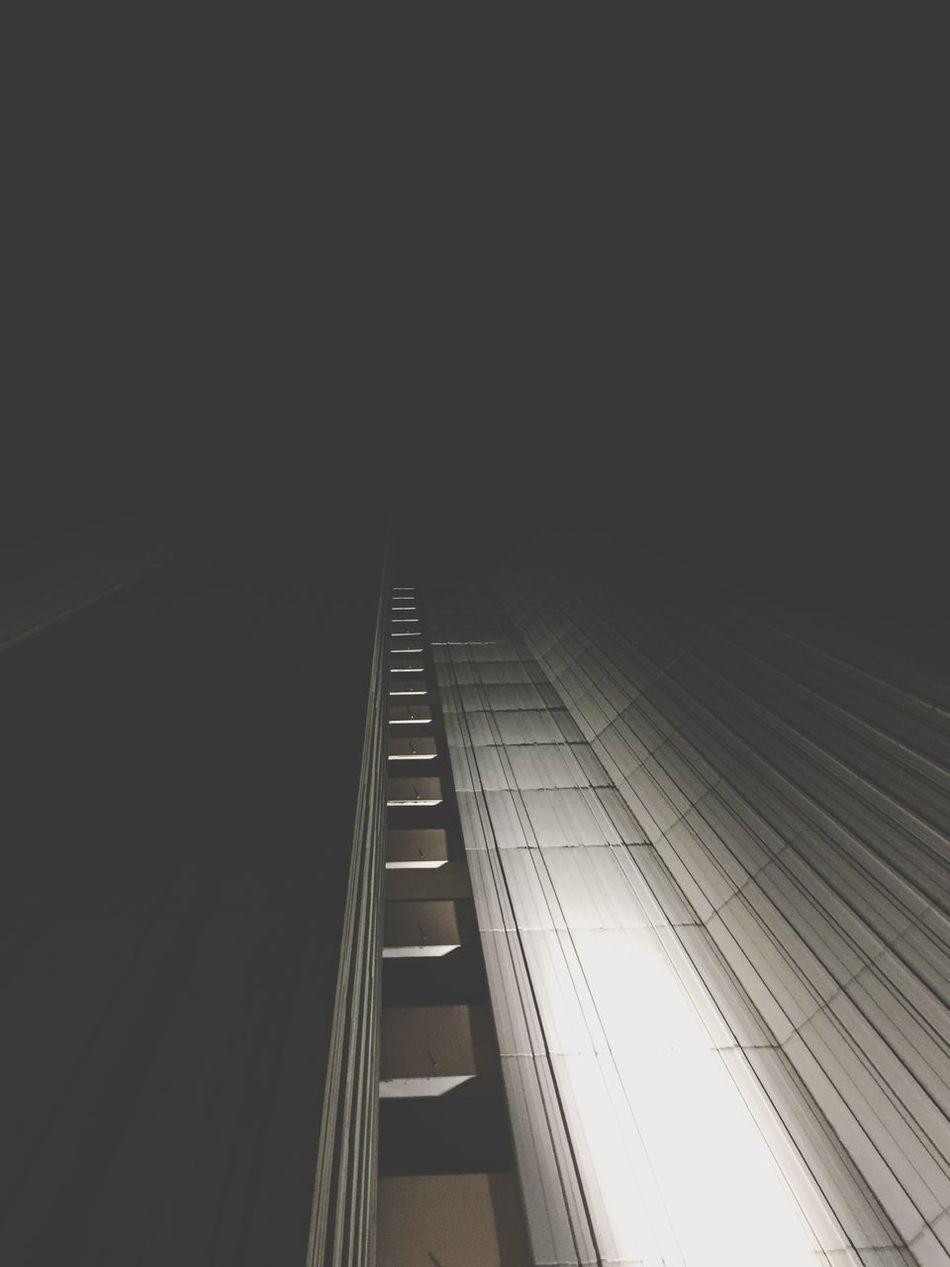 Architecture Built Structure City Building Exterior Modern Dark Skyscraper Night Cityscape No People Lookingup Black