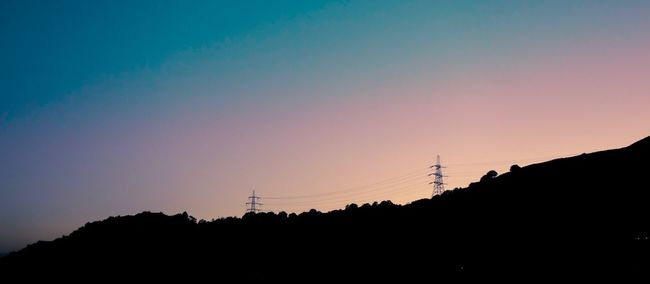 Autumn gradient sky Silhouette Sunset Electricity  Connection Technology Power Line  No People Electricity Pylon Power Supply Nature Outdoors Tower Sky Beauty In Nature Day