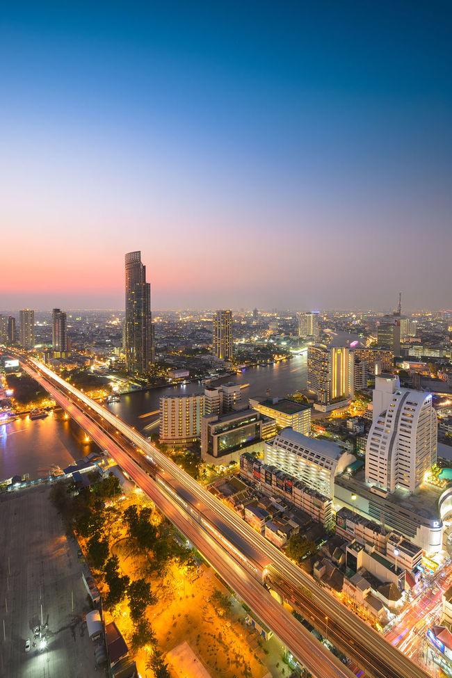 Architecture Bangkok Building Exterior Built Structure City Cityscape Outdoors Sky Skyline Thailand Travel Destinations Twilight Sky