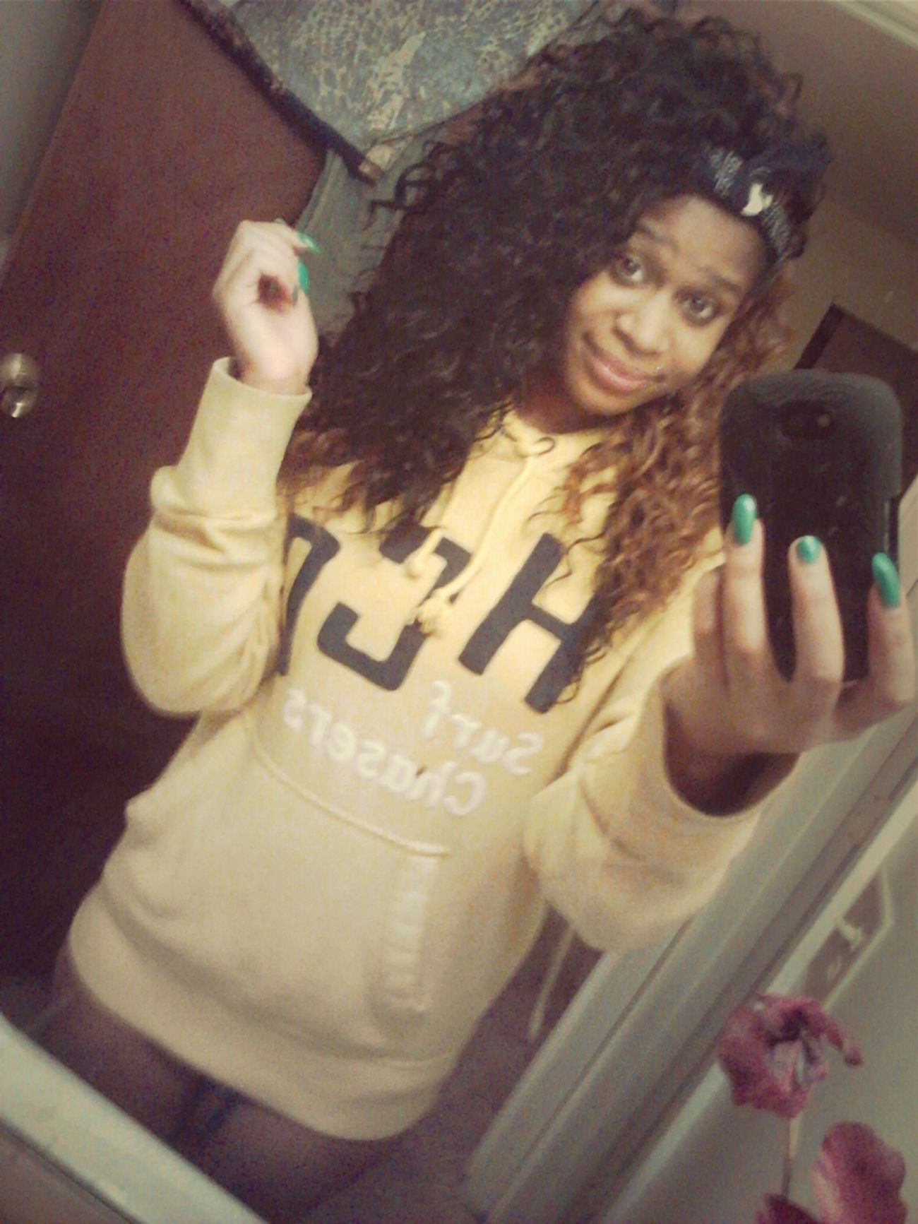 I be sleeping in his hoodie. >