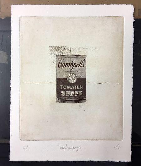 Tomatensuppe Campbells Tomato Soup Campbells Tomato Soup Radierung Fotoradierung Etching Photo Etching