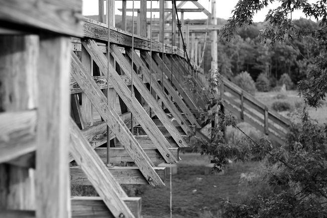 Wood - Material Outdoors Nature Built Structure Architecture Bridge Blackandwhite Greatoutdoors Trail First Eyeem Photo