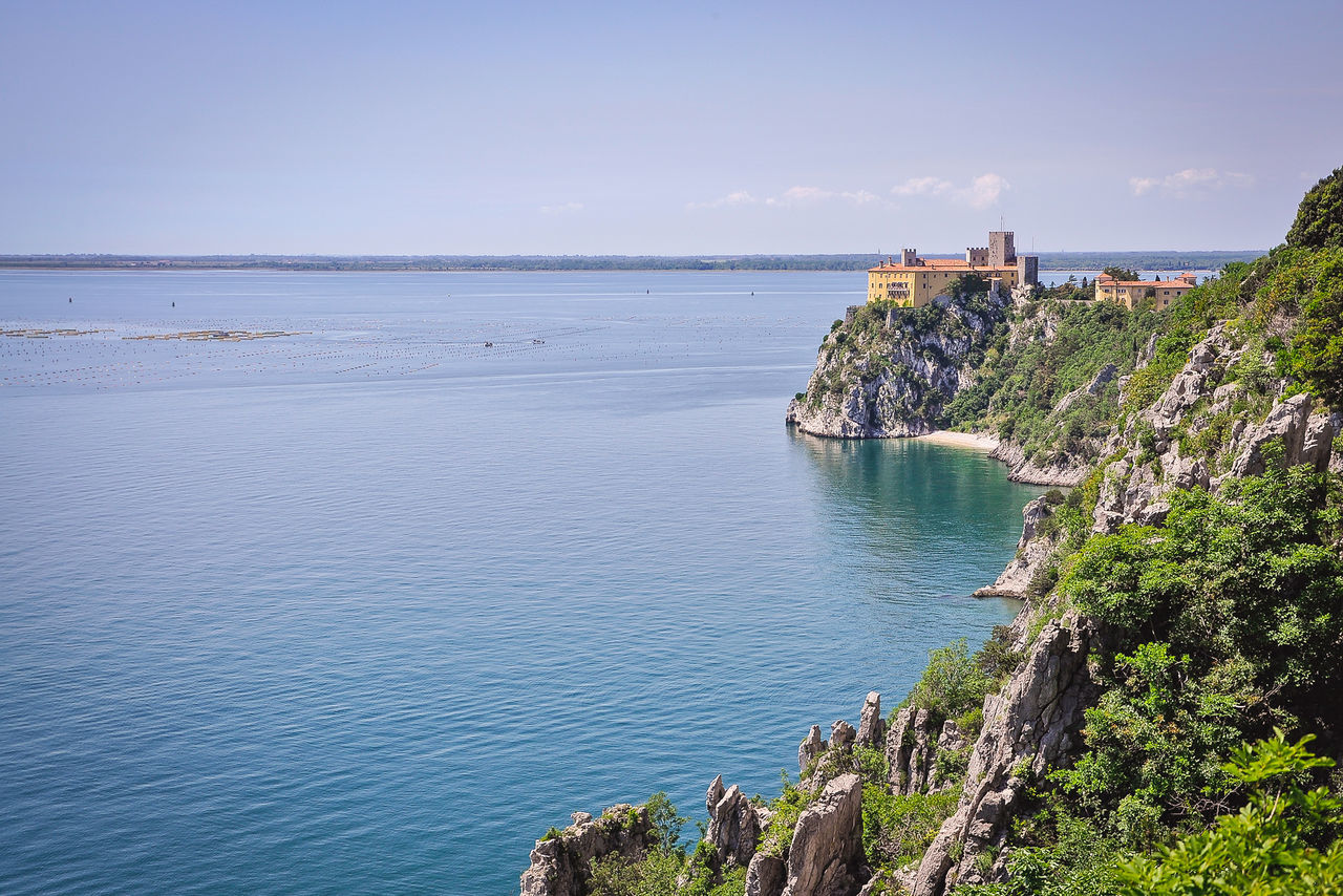Adriatic Coast Adriatic Sea Architecture Beach Built Structure Carso Castello Castle Cliff Cliffs Coastline Duino Green Horison Horizon Over Water Italy Mer Nature Outdoors Sea Seaside Sky Travel Travel Destinations Water