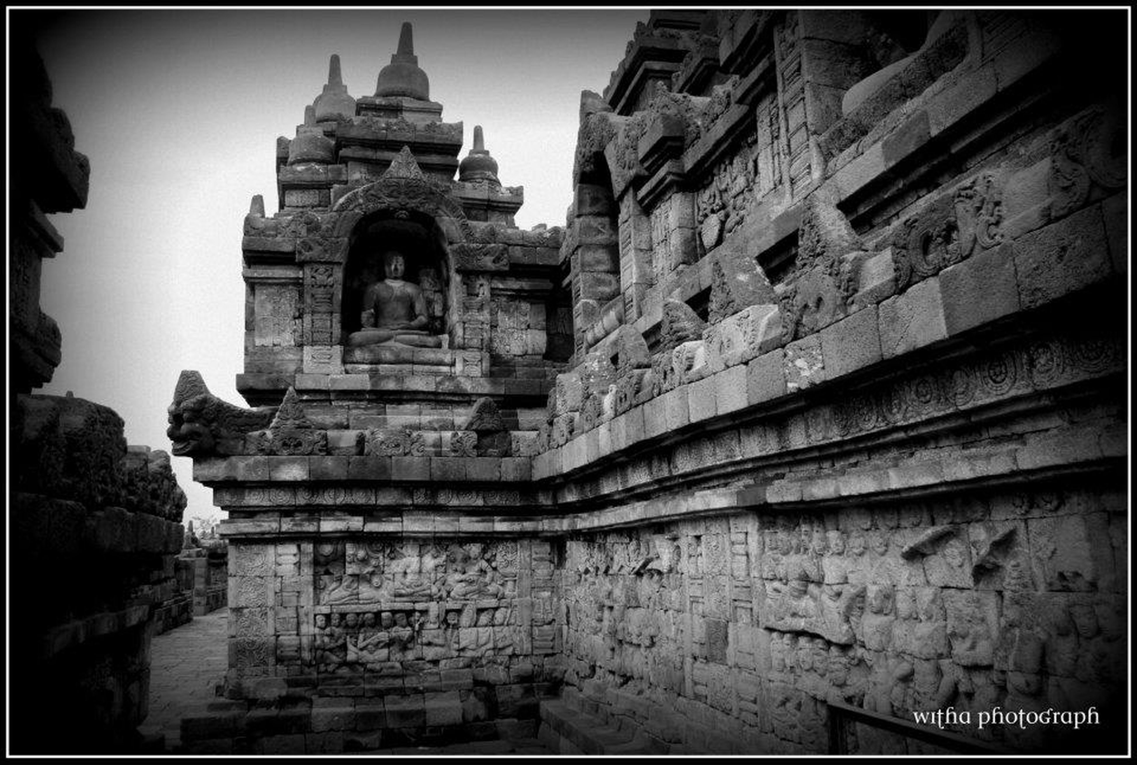 transfer print, architecture, built structure, building exterior, auto post production filter, place of worship, religion, history, spirituality, low angle view, old, famous place, church, clear sky, the past, temple - building, ancient, travel destinations, cathedral