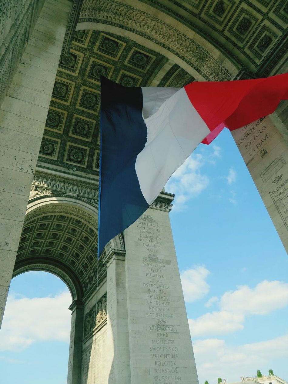 Arc de Triomphe, Paris Look Up And Thrive Arc De Triomphe Triumphal Arch Urban Spring Fever Colors Paris Flag France Seeing The Sights Resist Art Is Everywhere Champs-Élysées  Arch Of Triumph French Flag View From Below Nationalism