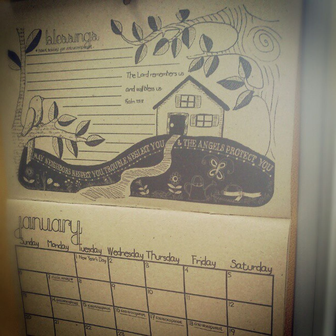 Instead of dwelling to your troubles, count on your blessings instead :) Thiswayisbetter Planner Calendar January