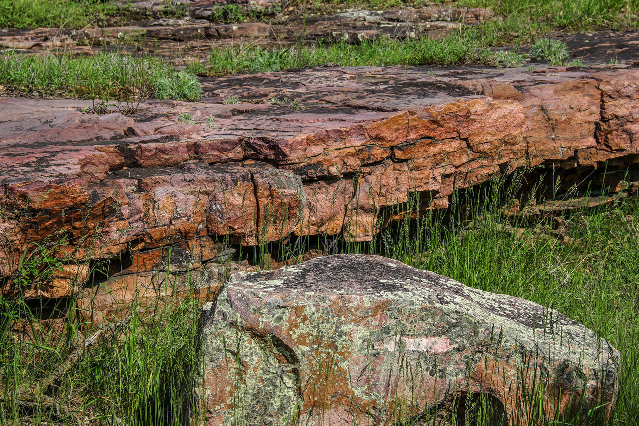 Rock outcropping Beauty In Nature Canon60d Canonphotography Grass Nature Outdoors Pipestone National Monument Rock Rock Formation Rock Outcrop Sioux Quartzite Stone