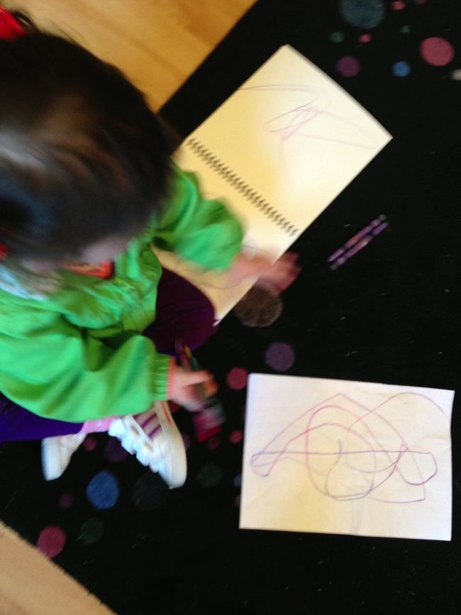 Baby Learning To Colour