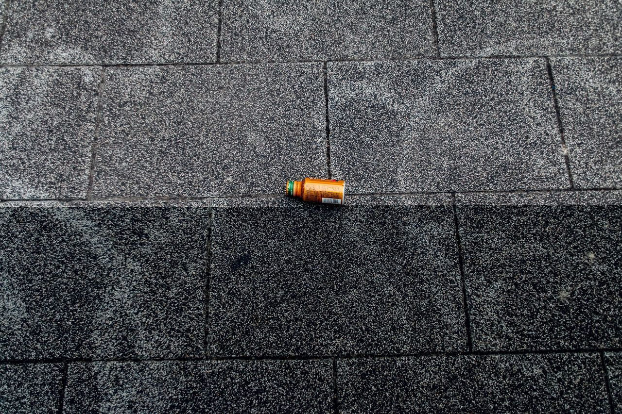 Outsider In Broken Patterns Negative Space Abstract Simple Things In Life Bottle Capture The Moment Day Enjoying Life Eye4photography  EyeEm Best Shots EyeEm Gallery Getting Inspired Light And Shadow Minimalism On The Road Outdoors Pattern Pieces Simple Moment Still Life Tiled Floor Walking Around Looking Down Simplicity Learn & Shoot: Balancing Elements