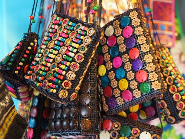 Beg Close-up Handicrafts Market Multi Colored Retail  Sarawak Malaysia Variation