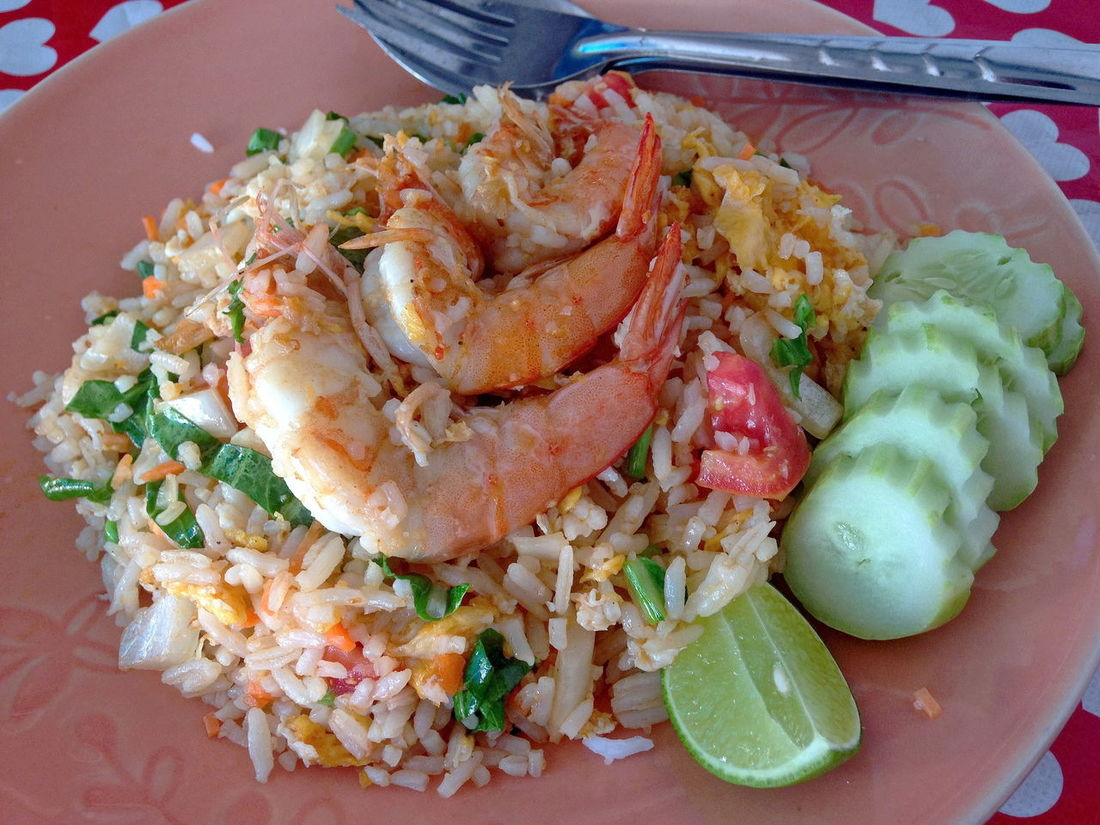 Thai Fried Rice with Prawns The Foodie - 2015 EyeEm Awards EEA3 Foodphotography My Smartphone Life The Photojournalist - 2015 EyeEm Awards Food EyeEm The Best Shots EyeEm 2015 Thai Foods The Traveler - 2015 EyeEm Awards
