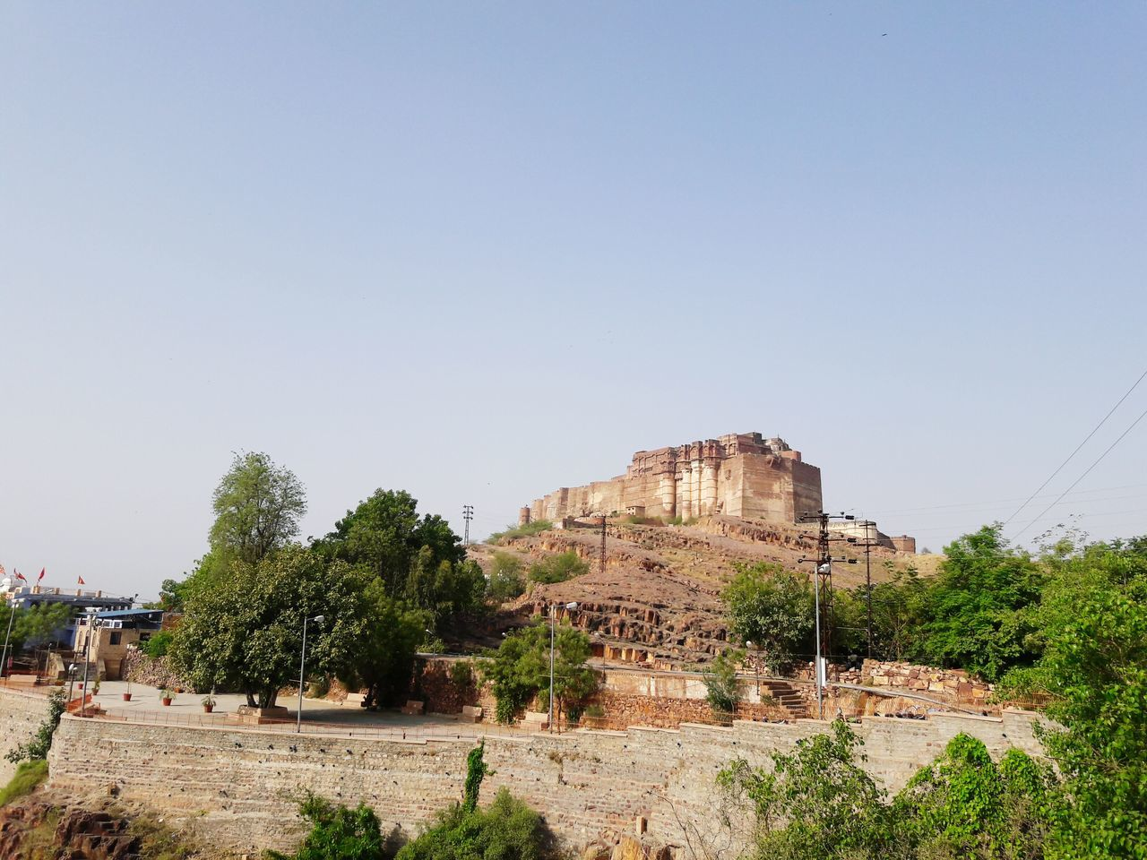 Tree Outdoors Day Architecture No People Sky Mehrangarh Fort Historical Building