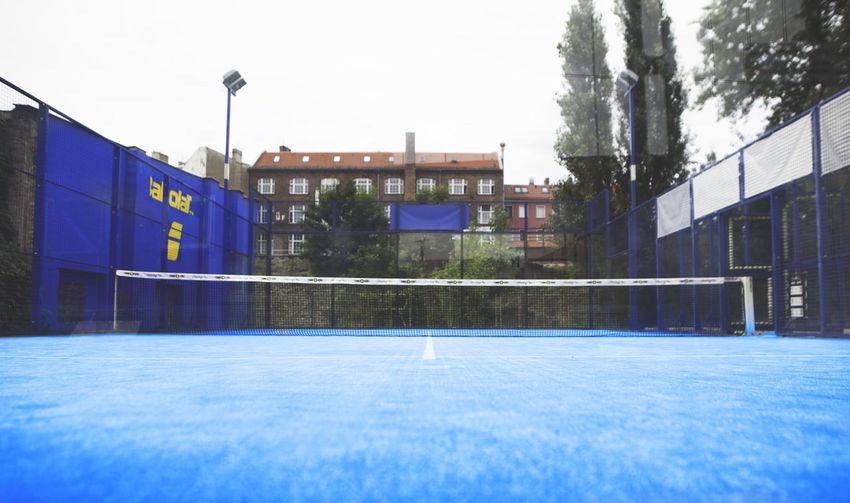 Court Padel Tennis Blue Net Outdoors Paddle Padel-tennis Racket Sport