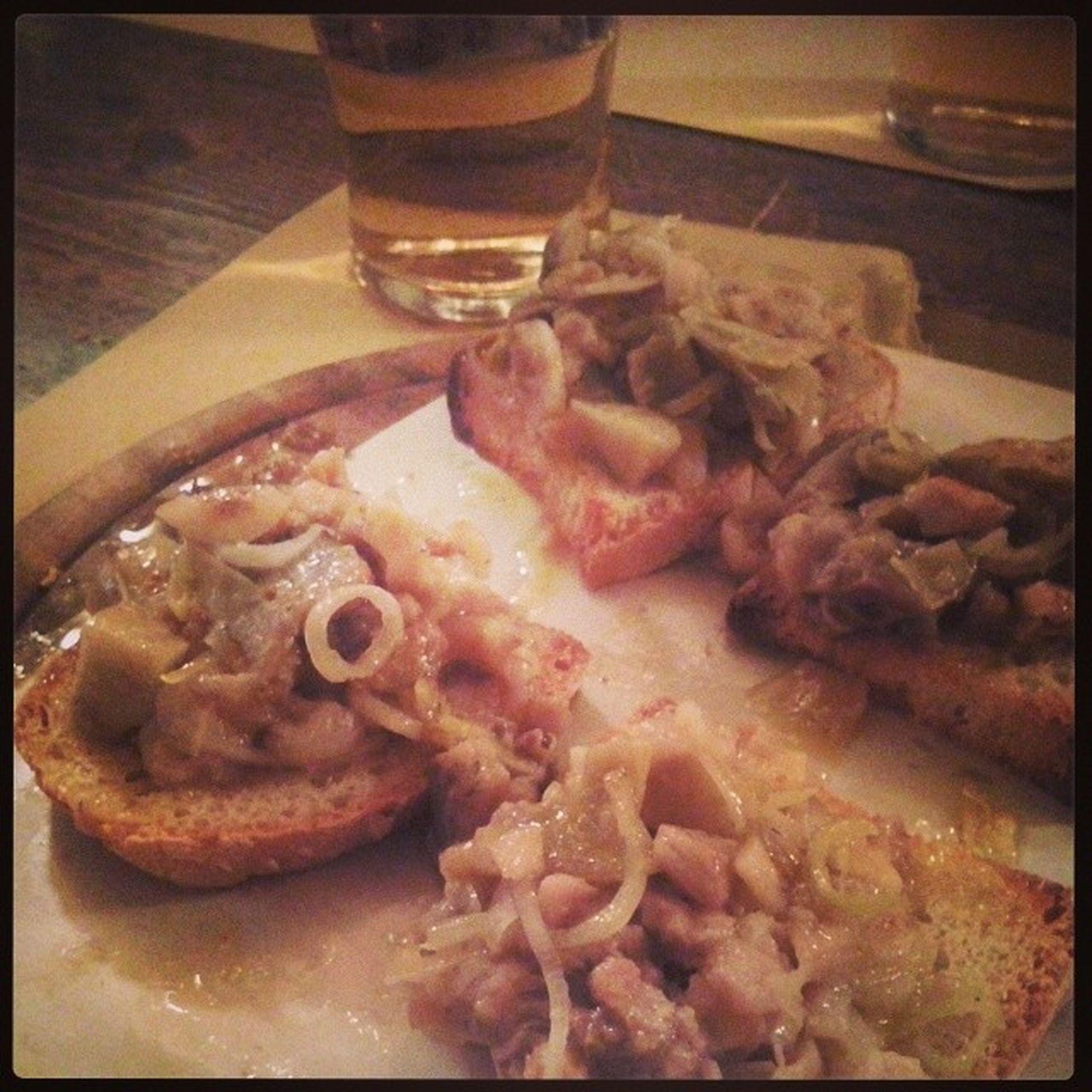 Crostoni con Aringhe in Dolceforte Food Foodporn Igersfirenze Firenze