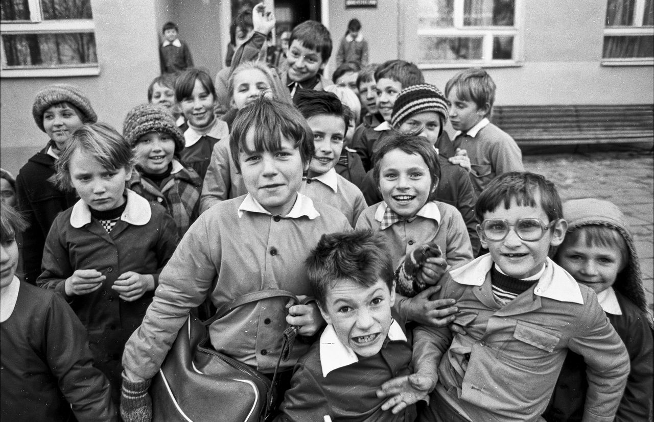 Boys Child Childhood Crowd Day Emotions Emotions Captured Emotions Of The Eyes Girls Happiness Large Group Of People Looking At Camera Outdoors People PUPILS School