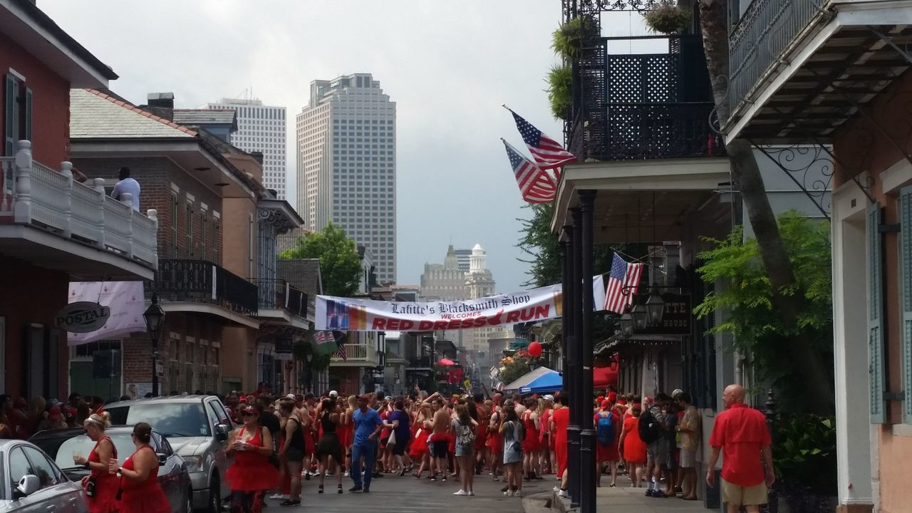 2017 Red Dress Run in New Orleans Bourbonst RedDressRun2017 NOLA EyeEmNewHere