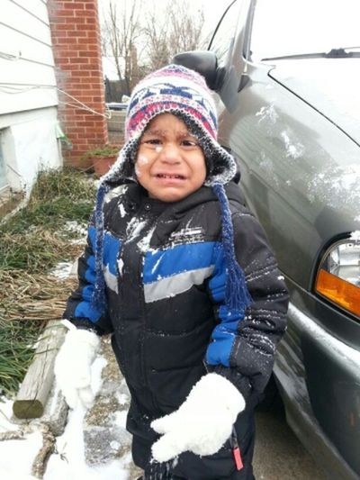 Blown His Brother Threw Snow At His Face