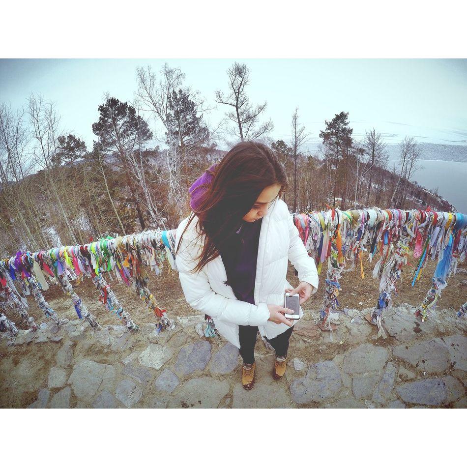 Girl Russia Baykal Lake Baikal - Sunset - Listvyanka - Siberia - Russia