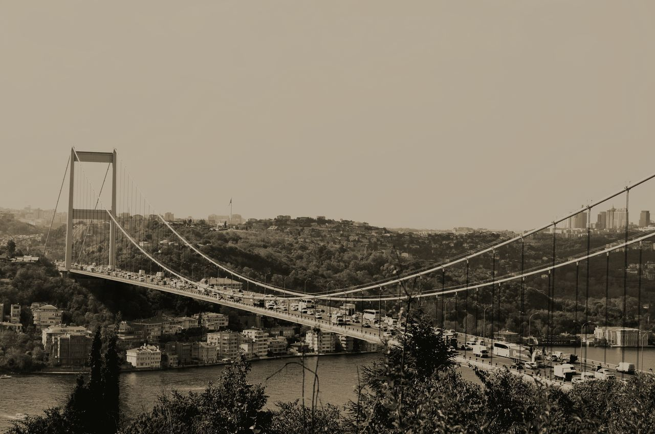 Bosphorus Bridge Against Clear Sky