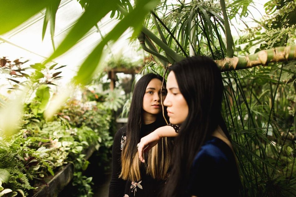 Sisters From My Point Of View Model Hair Adventures Photography EyeEm Best Shots Share Your Adventure Greenhouse Seattle Seattle, Washington Travel Photography Telling Stories Differently Indoors  Portrait