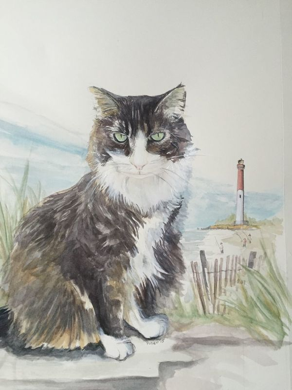 Pet portraits. Inquire within.... Painting Watercolor Painting Cat Lovers