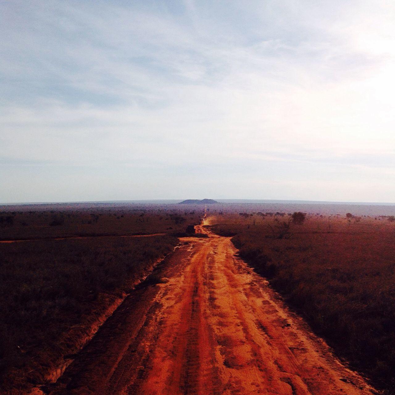 The Way Forward Landscape Horizon Over Land Tranquil Scene Beauty In Nature Non-urban Scene Kenya Tsavo Tsavo East Road To Nowhere African Safari Africa