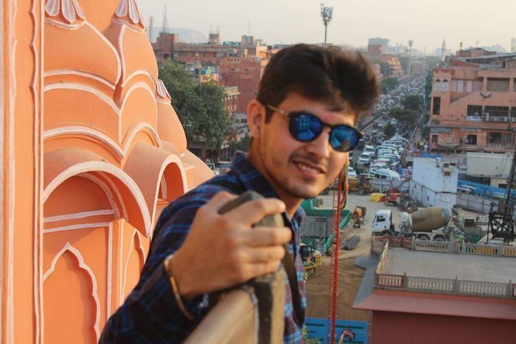 Rishabh Datta in Jaipur Building Exterior Built Structure City Lifestyles One Person Outdoors People Real People Rishabh Rishikesh Young Men First Eyeem Photo
