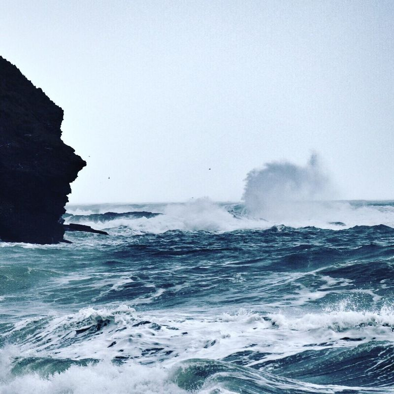 Sea Nature Water Wave Beauty In Nature Waterfront Outdoors Clear Sky Day Sky No People Scenics Horizon Over Water Power In Nature Storm Stormy Weather Iseefaces
