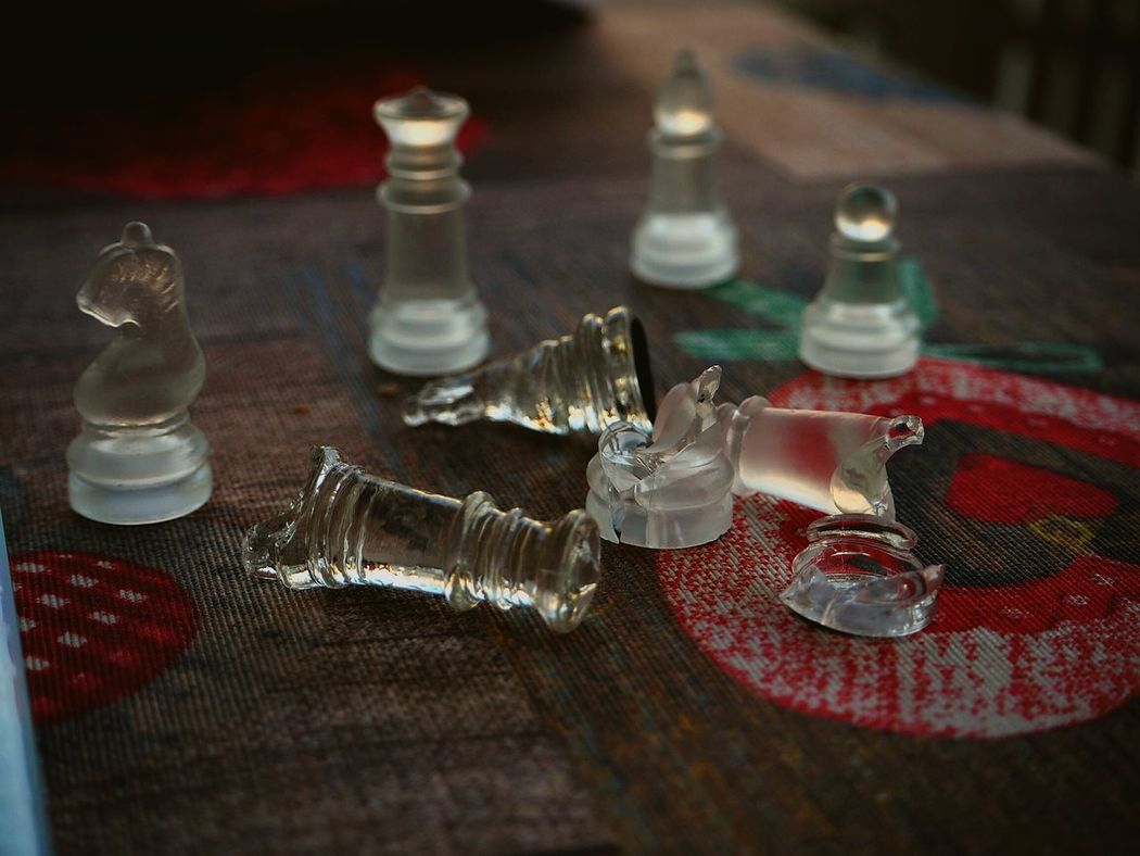 Schach SCHACHMATT Chess Glass Chess Spiel Brocken Glass Scherben Scherben Bringen Glück Showcase: January