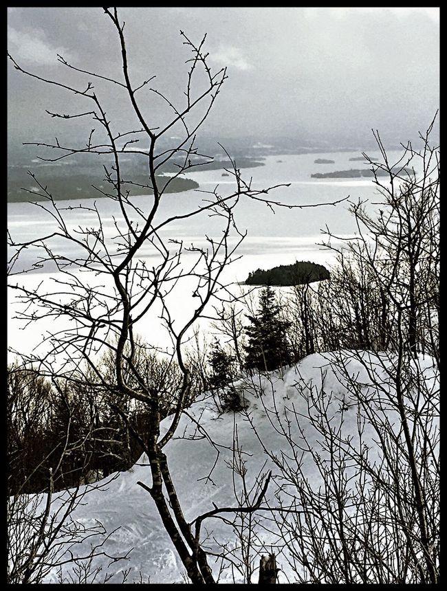 Skihill Skiing Blackandwhite Owelshead Memphremagog Lake View Winter