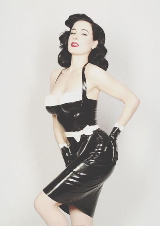 Dita Von Teese Pin Up Latex Latex Dress