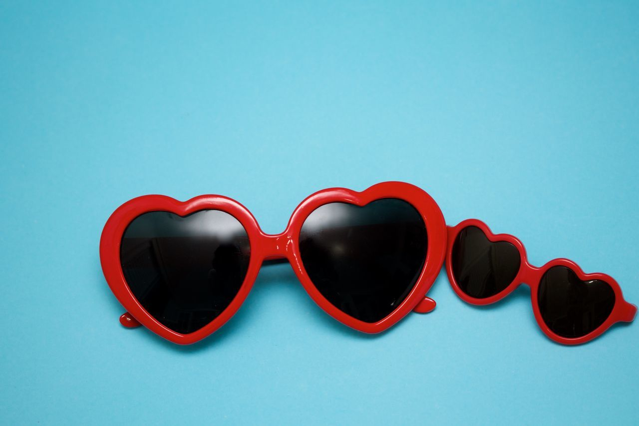 Beautiful stock photos of muttertag, sunglasses, copy space, studio shot, red