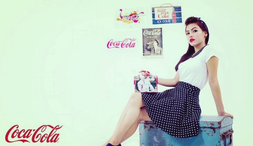 ♡ THINGS GO BETTER WITH COKE Cocacola Photoshoot Coke Pinup Pinup Girl Rockabilly Rockabella