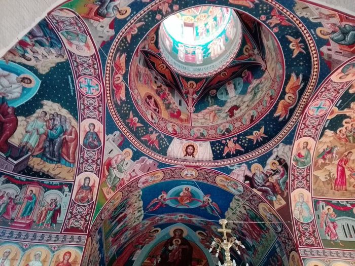 Romanian  Schit Art Architecture Fresco Ceiling Pattern No People Day