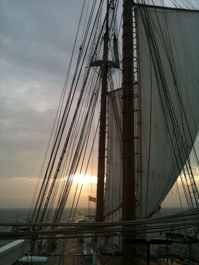 Sailing... Cable Cloud - Sky Cloudy Elcano Juan Sebastian De Elcano May 2016 Nature No People Outdoors Rough Sea Sail Boat Sailing Sea Sky Spain♥ The Way Forward Weather