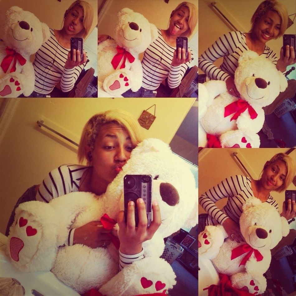 Happy Valentine's Day With My New Cuddy Buddy Lol