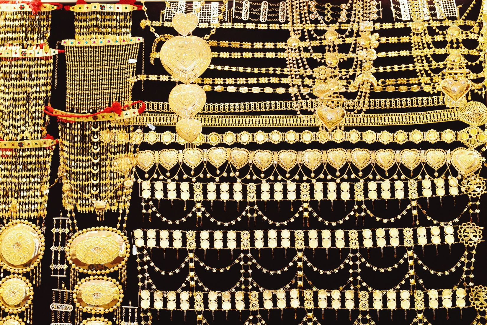 Yellow Everywhere!  Gold Shopping Market Souq