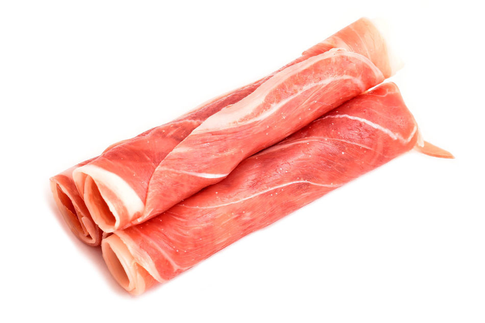 Bacon Close-up Food Food And Drink Freshness Ingredient Meat No People Pork Raw Food Red Red Meat White Background