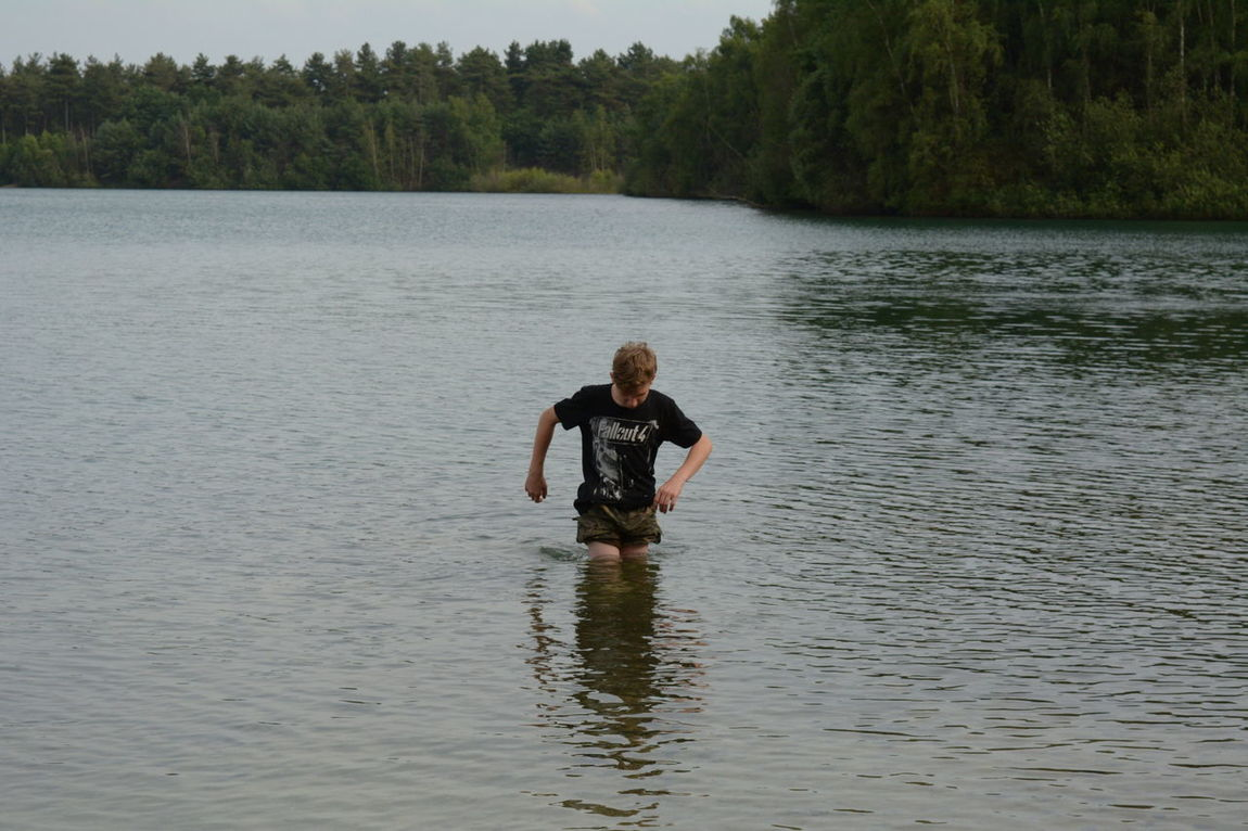 One Person Water People Adventure Outdoors One Boy Only Lake Day Ankle Deep In Water My Son :) Fun Wet Nature