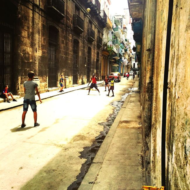 RePicture Friendship soccer game Enjoying Life childhood in Habana