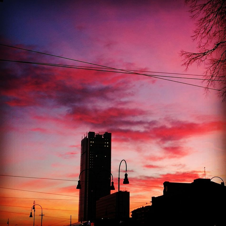 Sunset Sky Dramatic Sky Cloud - Sky Outdoors City No People Urban Skyline Cityscape Pink Turin Italy Torino Tramonto Tramonto Metropolitano NuvoleRosa First Eyeem Photo