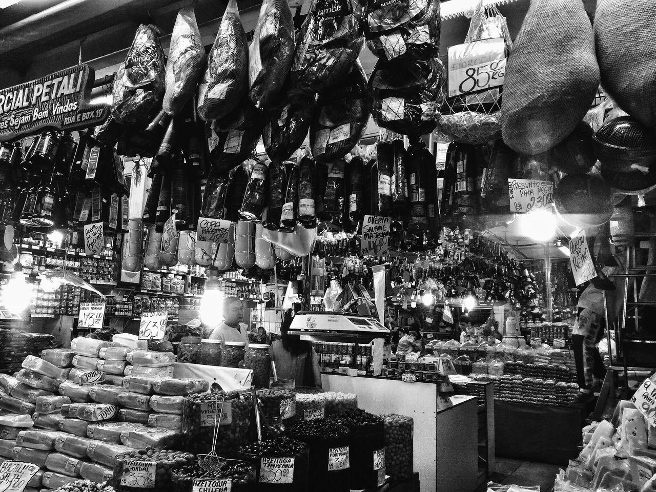 Sao Paulo - Brazil Saopaulo Mercadomunicipal Mercadao Mercadaosp Jamon JamonSerrano Jamoniberico Food Foodstore Blackandwhite People People Watching EyeEm Food Photography