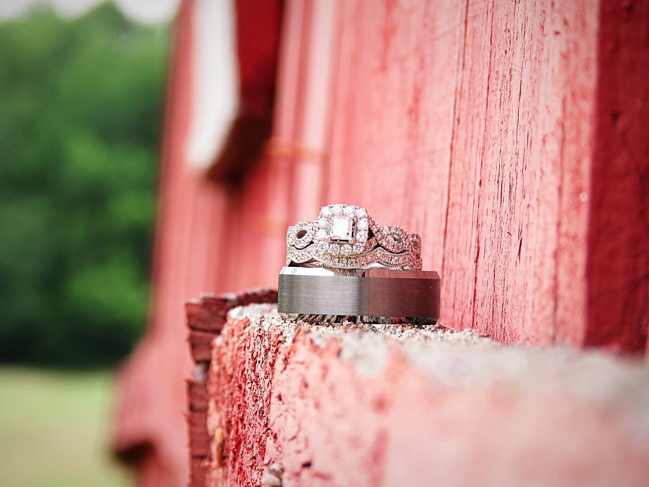 Red Close-up Weddingrings Goingtomarrymybestfriend Ourrings Diamonds Kayjeweler I Said Yes ♡  Vintagecountrywedding